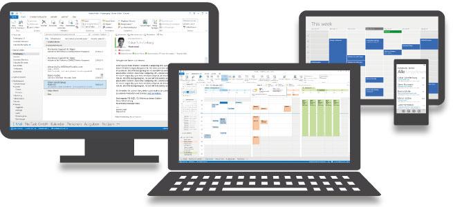 Hosted Microsoft Exchange - Endgeräte und Zugriff