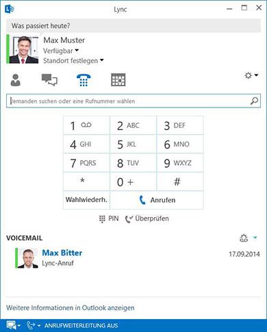 Hosted Lync - Telefonie und Voicemail