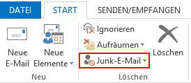 Junk-E-Mail-Filter Outlook